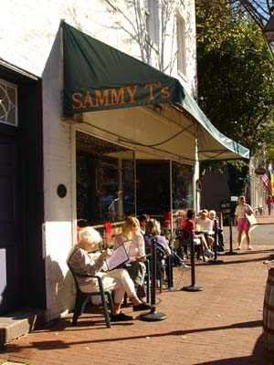 Lunch Outside at Sammy T's on November 7, 2004